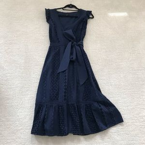 J Crew Wrap Dress, Navy, Size 4